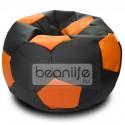 Кресло-мешок FOOTBALL Черно-оранжевый [Футбол]
