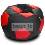 Кресло-мешок FOOTBALL Черно-красный [Футбол]