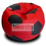 Кресло-мешок FOOTBALL Красно-черный  [Футбол]
