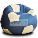 Кресло-мешок FOOTBALL Серебристо-синий [Футбол]