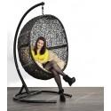 """Кресло подвесное """"Cocon"""" для дома и сада (Черный цвет)"""