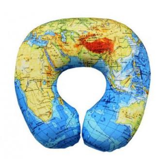 "Подушка под шею ""Карта Мира"""
